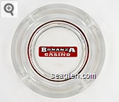 Bonanza Casino - Red and black imprint Glass Ashtray