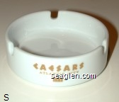Caesars, Atlantic City ITT - Gold imprint Porcelain Ashtray