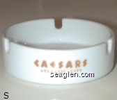 Caesars, Atlantic City - Gold imprint Porcelain Ashtray