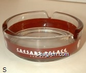 Caesars Palace, Las Vegas - White on red imprint Glass Ashtray