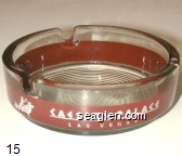 Caesars Palace, Las Vegas - Red and white imprint Glass Ashtray