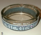 Caesars Palace, Las Vegas, Nevada - White and gray imprint Glass Ashtray