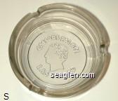 Caesars Palace, Las Vegas - Molded imprint Glass Ashtray