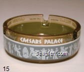 Las Vegas, Caesars, Nevada - White and gray imprint Glass Ashtray