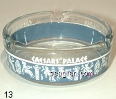 Caesars Palace, Las Vegas - White and gray imprint Glass Ashtray
