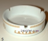 Caesars - Yellow imprint Glass Ashtray
