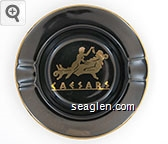 Caesars - Gold imprint Ceramic Ashtray