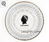 Caesars - Black imprint Glass Ashtray