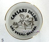 Caesars Palace, Las Vegas - Nevada - Black imprint Porcelain Ashtray