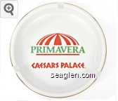 Primavera, Caesars Palace - Orange and green imprint Porcelain Ashtray