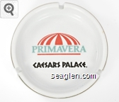 Primavera, Caesars Palace - Orange, green and black imprint Porcelain Ashtray