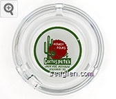 Howdy Folks, Cactus Pete's, Jack Pot Nevada, Highway 93 - Red and green on white imprint Glass Ashtray