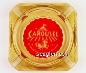 Carousel, Downtown Las Vegas, Nevada - White on red imprint Glass Ashtray