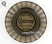 A Hughes Hotel, Castaways Hotel & Casino, Las Vegas - Green imprint Glass Ashtray