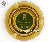 the Castaways, A Hughes Hotel, Las Vegas - White on green imprint Glass Ashtray
