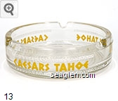 Caesars Tahoe - Yellow imprint Glass Ashtray