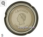 Caesars Lake Tahoe - Molded imprint Glass Ashtray