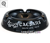 Caesars South Lake Tahoe - White imprint Glass Ashtray