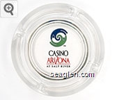 Casino Arizona at Salt River - Red and black imprint Glass Ashtray