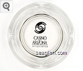 Casino Arizona at Salt River - Black and gold imprint Glass Ashtray