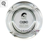 Casino Arizona - Black and white imprint Glass Ashtray