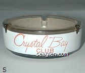 Crystal Bay Club - Red on white imprint Glass Ashtray