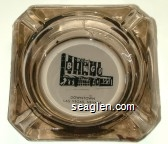 Club Bingo, Downtown Las Vegas, Nevada - Black on white imprint Glass Ashtray
