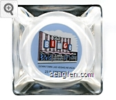 Club Bingo, Downtown Las Vegas, Nevada, 23 E. Fremont - Black on blue imprint Glass Ashtray
