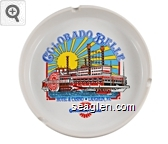 Colorado Belle, Hotel & Casino - Laughlin, NV., Colorado Belle - Multi imprint Porcelain Ashtray