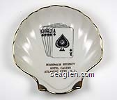 Boardwalk Regency, Hotel Casino, Atlantic City, N.J. - Gold imprint Porcelain Ashtray