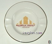 Boardwalk Regency, Hotel - Casino - Atlantic City, A Caesars World Resort - Red and yellow imprint Porcelain Ashtray