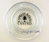 Cypress Bayou Casino - Black imprint Glass Ashtray