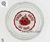 Circus Circus, Las Vegas - Red on white imprint Glass Ashtray