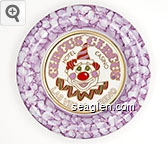 Circus Circus, Hotel Casino, Las Vegas - Reno - Pink, red and gold imprint Porcelain Ashtray