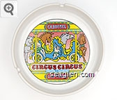 Carousel, Circus Circus, Hotel - Casino, Las Vegas - Multicolor imprint Porcelain Ashtray