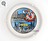 Circus Circus, Hotel/Casino, Reno - Multicolor imprint Porcelain Ashtray