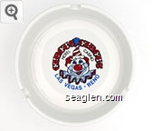 Circus Circus,  Hotel Casino, Las Vegas * Reno - Red, black and blue imprint Porcelain Ashtray