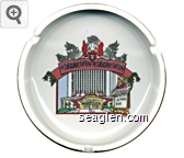Circus Circus,  Hotel Casino, Las Vegas, Reno - Multi imprint Porcelain Ashtray