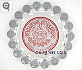 Circus Circus, Hotel Casino, Reno - Las Vegas - Red on white imprint Glass Ashtray