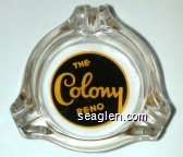 The Colony Reno - Yellow on black imprint Glass Ashtray