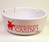 Coeur D'Alene Casino - Red imprint Plastic Ashtray