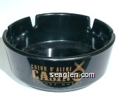 Coeur D'Alene Casino Resort Hotel - Gold imprint Plastic Ashtray