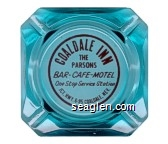 Coaldale Inn, The Parsons, Bar - Cafe - Motel, One Stop Service Station, Jct. Hwy. 6-95 Coaldale, Nev. - Red imprint Glass Ashtray
