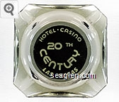Hotel - Casino, 20th Century, Las Vegas - White on black imprint Glass Ashtray