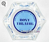 20th Century Hotel & Casino, Roxy Theatre, Las Vegas - Dk blue on lt blue imprint Glass Ashtray