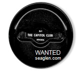 The Capitol Club, Ely, Nevada - White imprint Plastic Ashtray