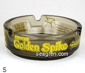 Golden Spike Casino, Carson City, Nevada - Yellow imprint Glass Ashtray