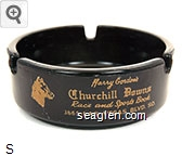 Harry Gordon's Churchill Downs, Race and Sports Book, 3665 Las Vegas Blvd. So. - Gold imprint Glass Ashtray
