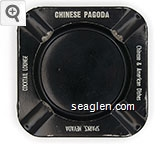 Chinese Pagoda, Chinese & American Dishes, Cocktail Lounge, Sparks, Nevada - White imprint Plastic Ashtray