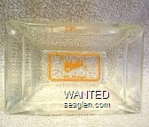 Chris' Ely, Nevada - Orange imprint Glass Ashtray